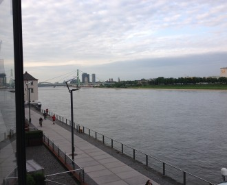 This is the view out my back door! Rhine river and promenade is a few steps (or leap) away. Really lovely!