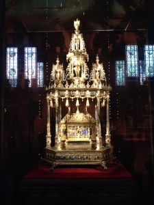 Gold alter used to house the Holy Blood during the processional