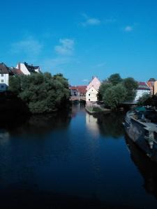 River in Nuremberg old city